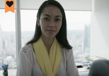 image or oriental woman looking anxious