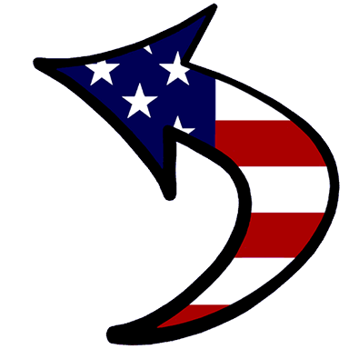 Lift and Shift Foundation patriotic arrow logo