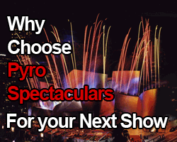 Book a show with Pyro Spectaculars