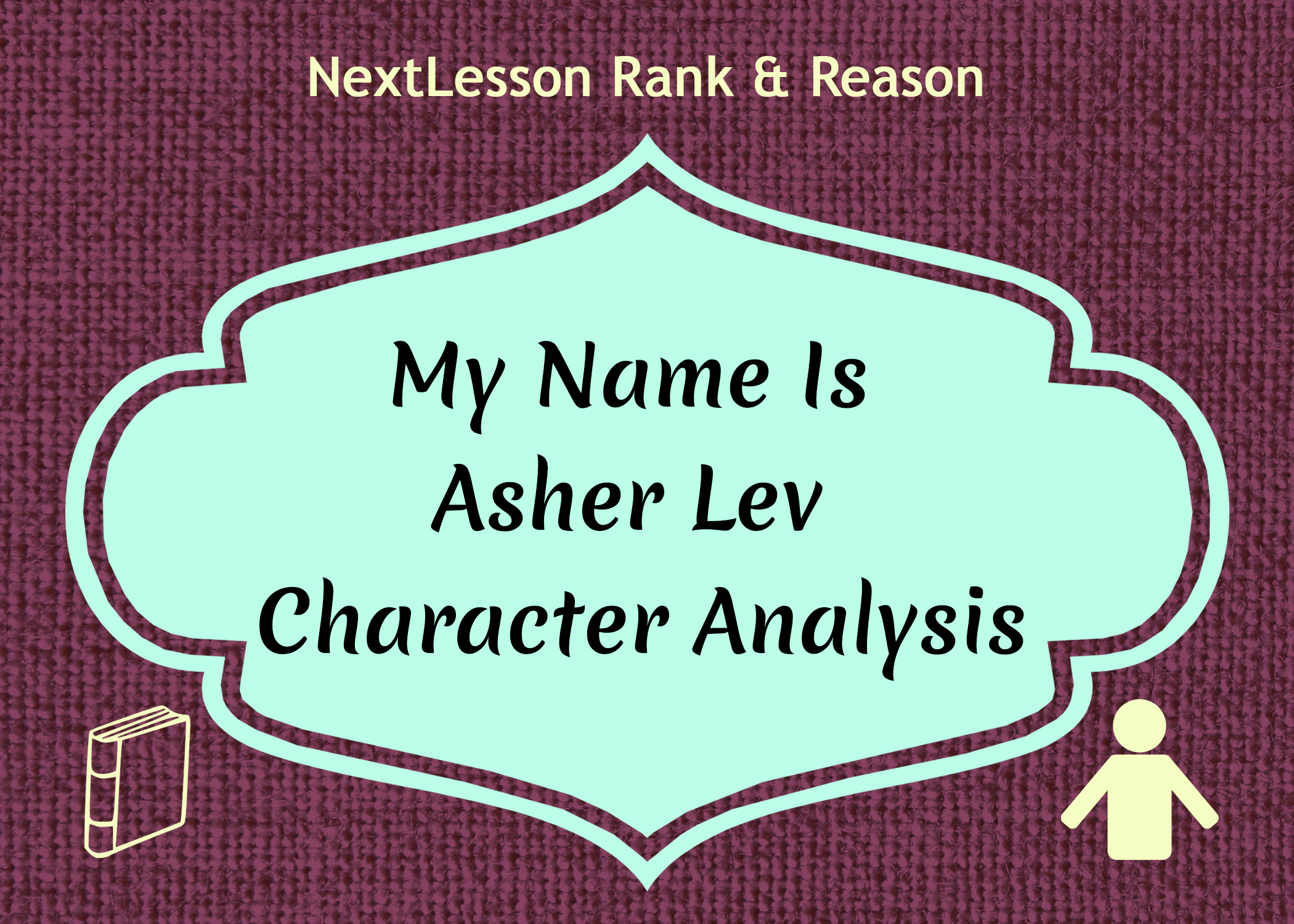 my name asher lev essay A great power 1196 words 571 words introduction for a thesis paper - classified information, definition, national security state in each of my name is asher lev essays.