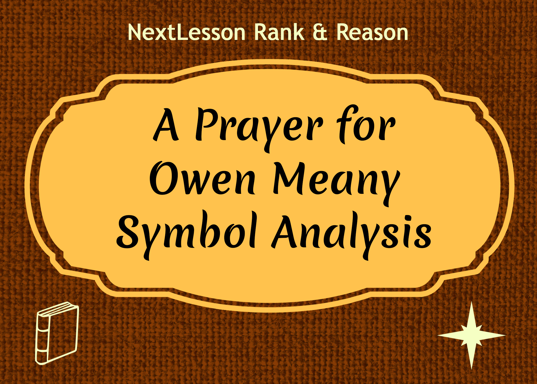 owen meany symbolism The economical/political social background of the story a prayer for owen meany by john irving had a huge impact on the characters and the p.