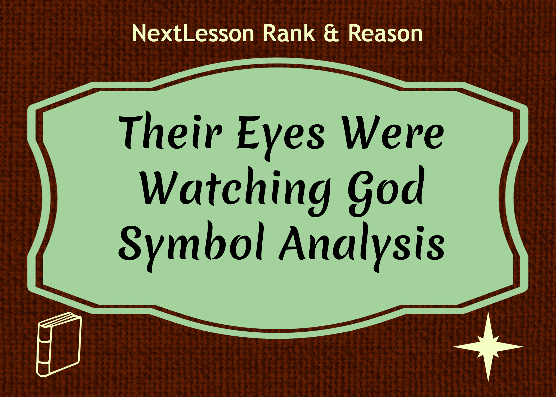 an analysis of their eyes were watching god Get free analytical essay sample on their eyes were watching god to learn how to write such kind of assignments.