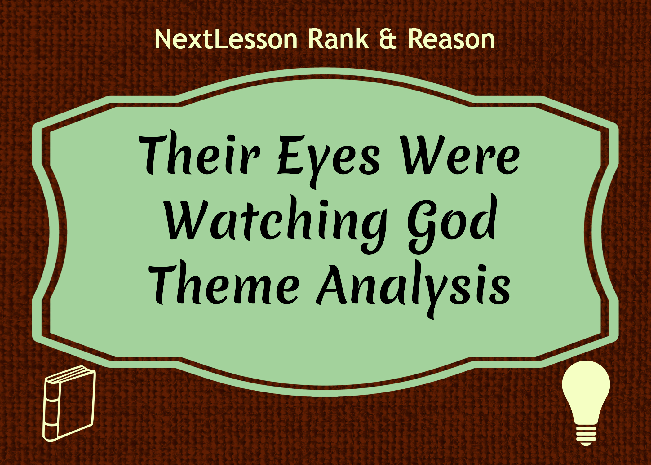 their eyes were watching god essay prompt Essays their eyes were watching god analysis hurston refutes the trite belief that women are obligated to repress their aspirations and sexuality their eyes were watching god serves as a testament to the ability of women to achieve life experience.