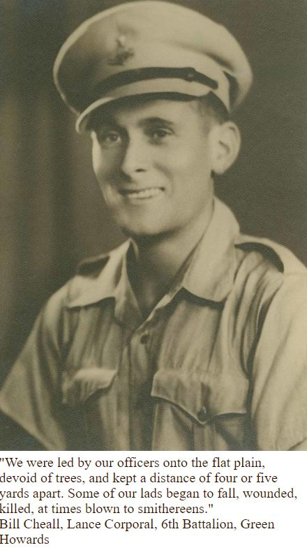 Bill Cheall 6 Green Howards ww2 and wwi
