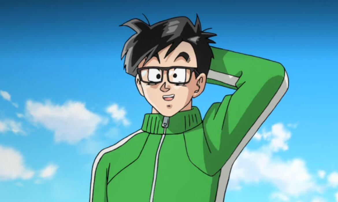 Gohan standing in his green tracksuit