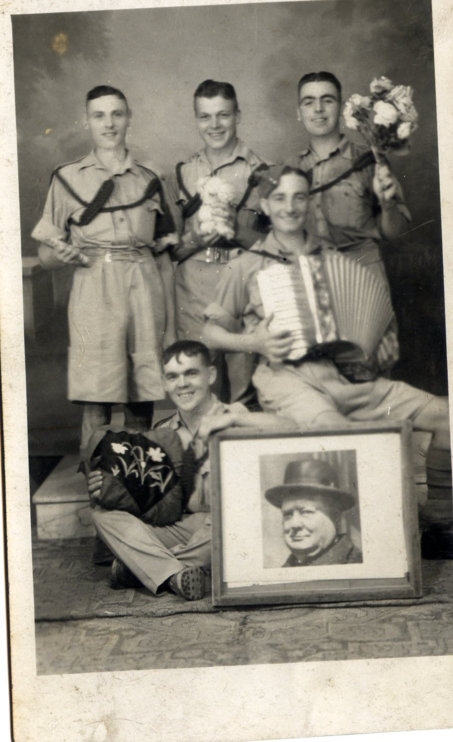 The early version of the second world war photo, before cleaning etc
