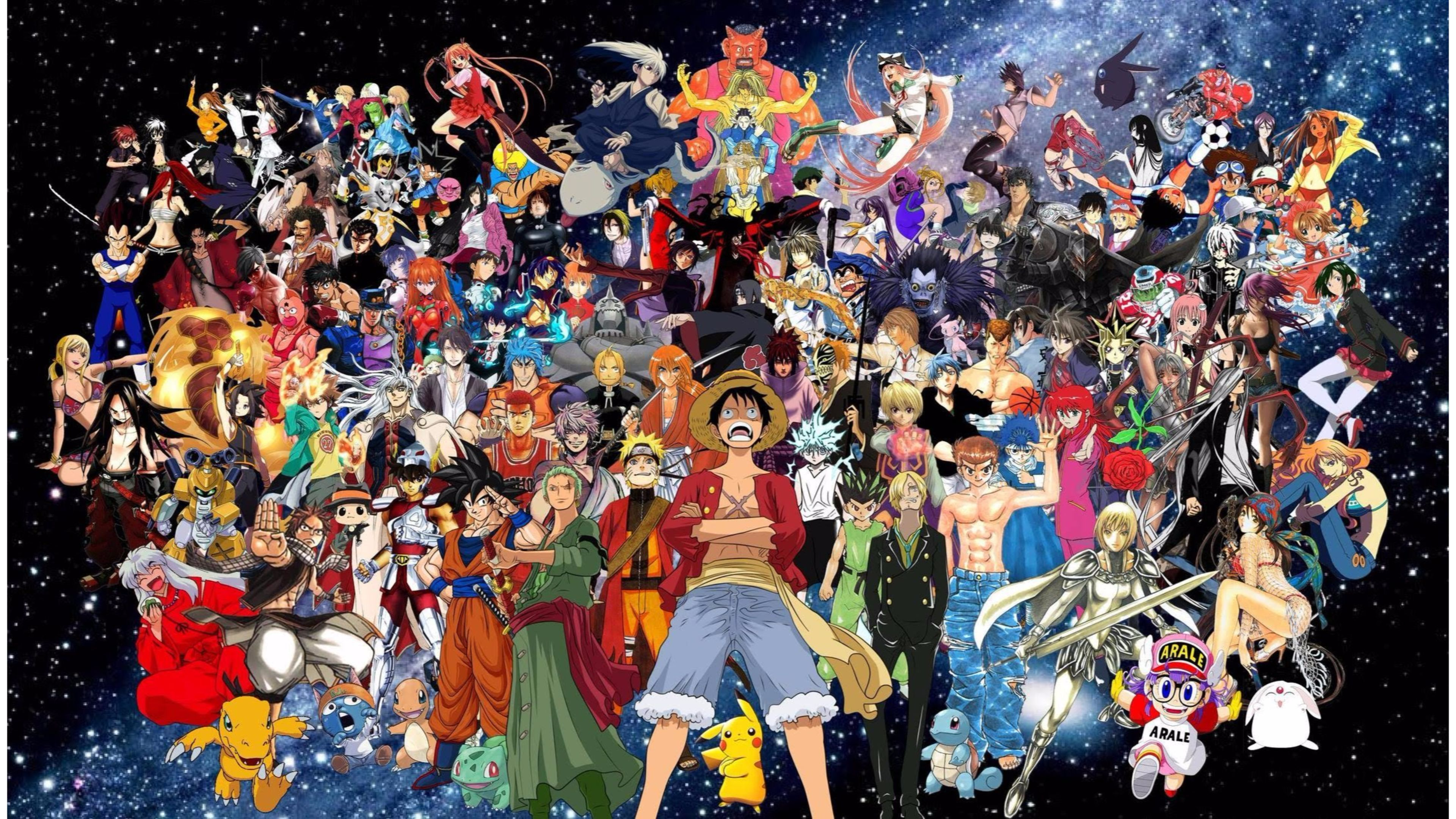 Picture of various shonen anime characters