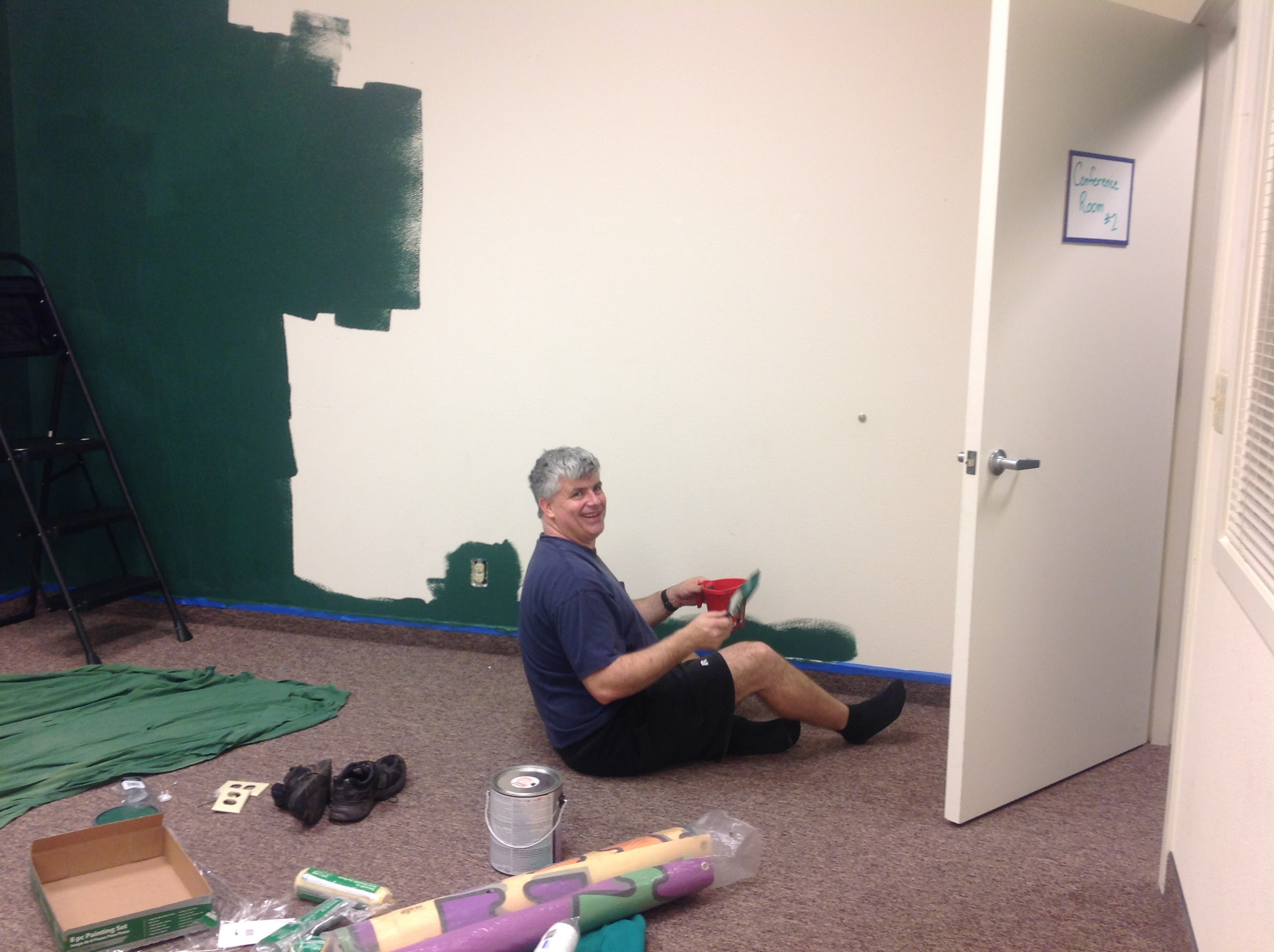 Fun Fact: John painting our first Autism Empowerment office green.