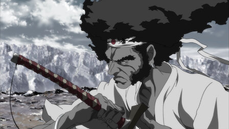 Afro Samurai holding his sword