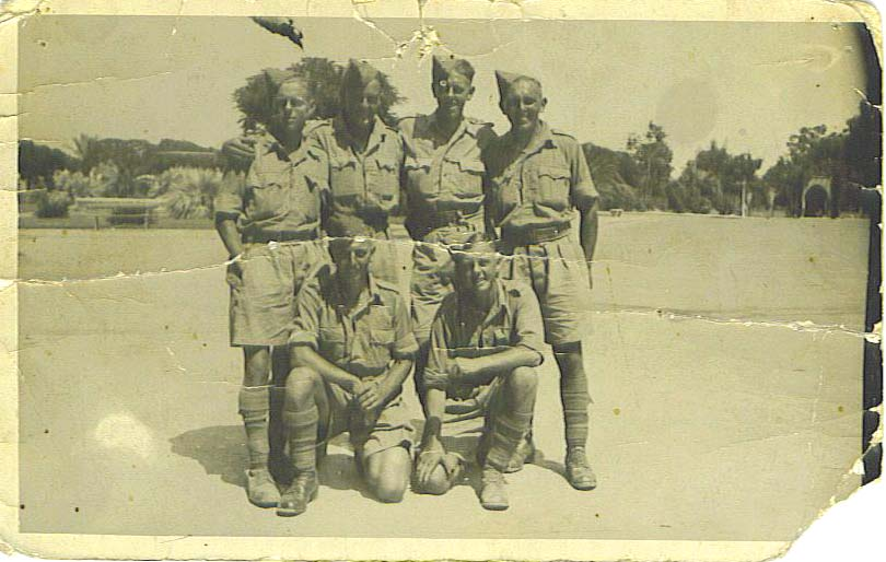 Some of Signal Platoon 6th Green .Howards on leave in Alexandria
