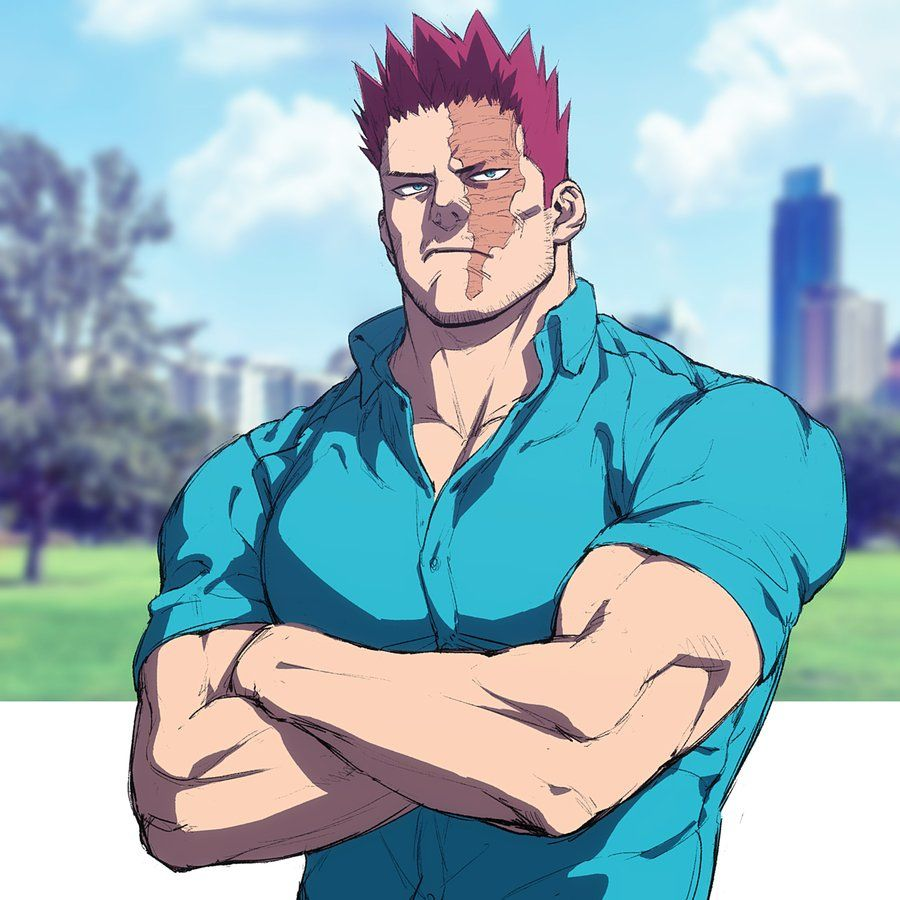 Endeavor standing with his arms crossed