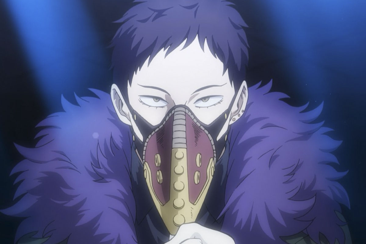 Overhaul from My Hero Academia wearing a plague mask