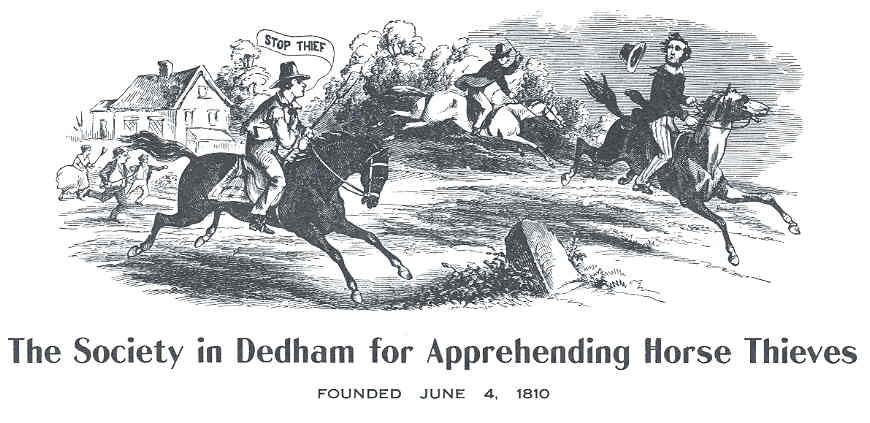 Emblem of the Society in Dedham for Apprehending Horse Theives