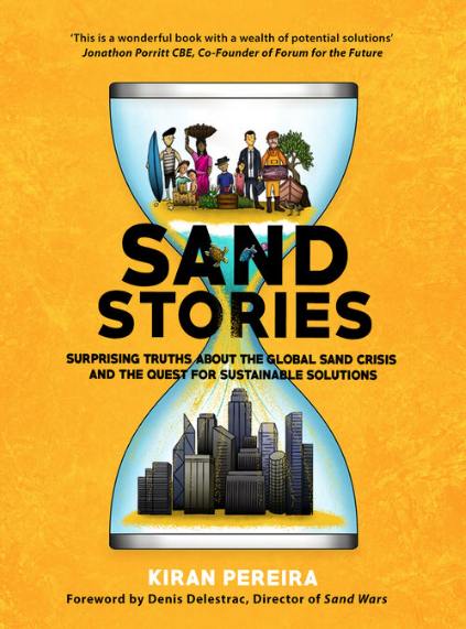 Building sustainability podcast sand stories book cover