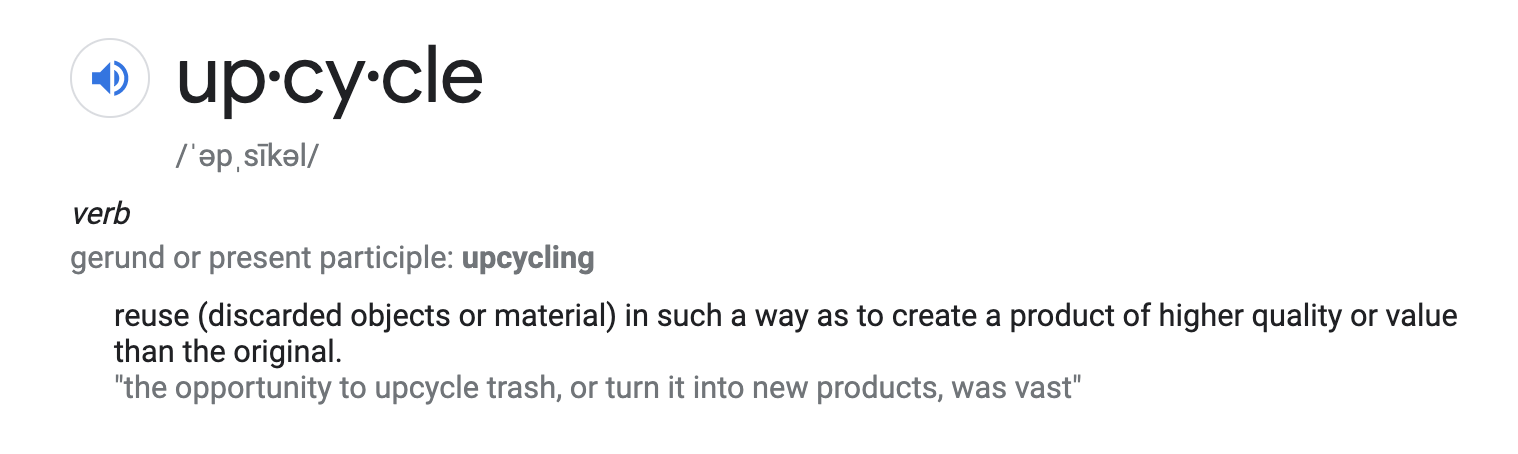 Upcycle definition