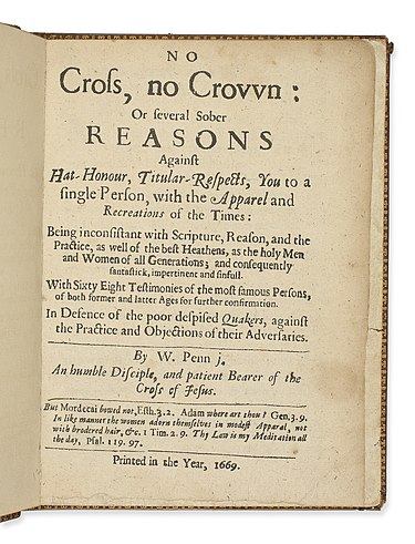 Title page of No Cross No Crown