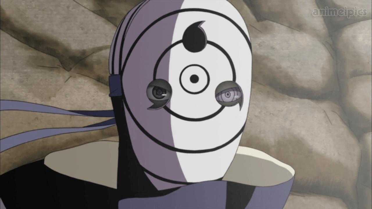 Obito wearing white sage mask from Naruto