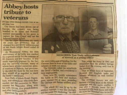 Tom Dady's news article about his WW2 Alamein experience podcast.jpg