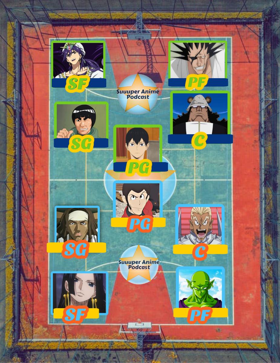 Suuuper anime podcast NBA Finals anime team