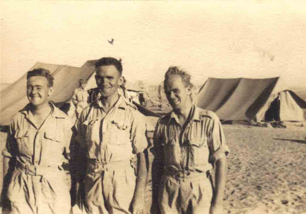 Cpl Stewart (Blackie) with us in B Coy second world war