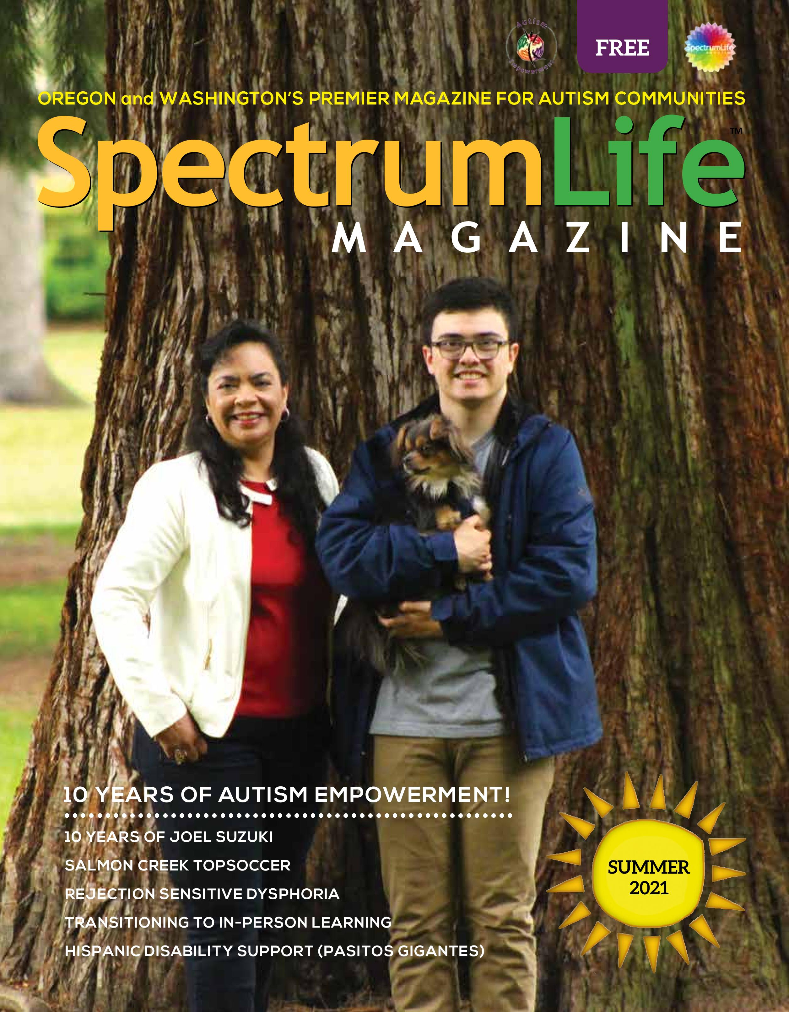 Summer 2021 Cover of Spectrum Life Magazine from Autism Empowerment