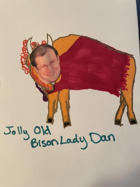 Jolly Old Bison Lady Spaz