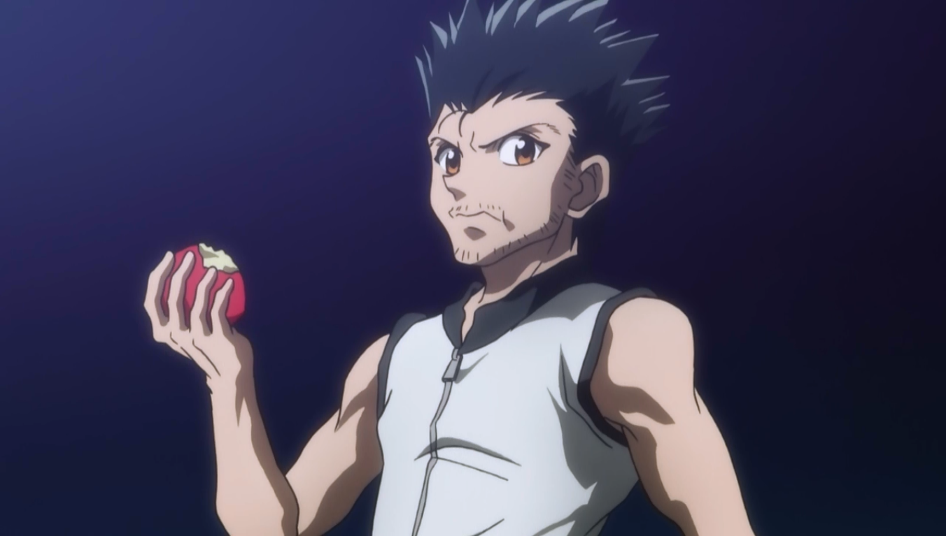 Ging Freeccs eating an apple