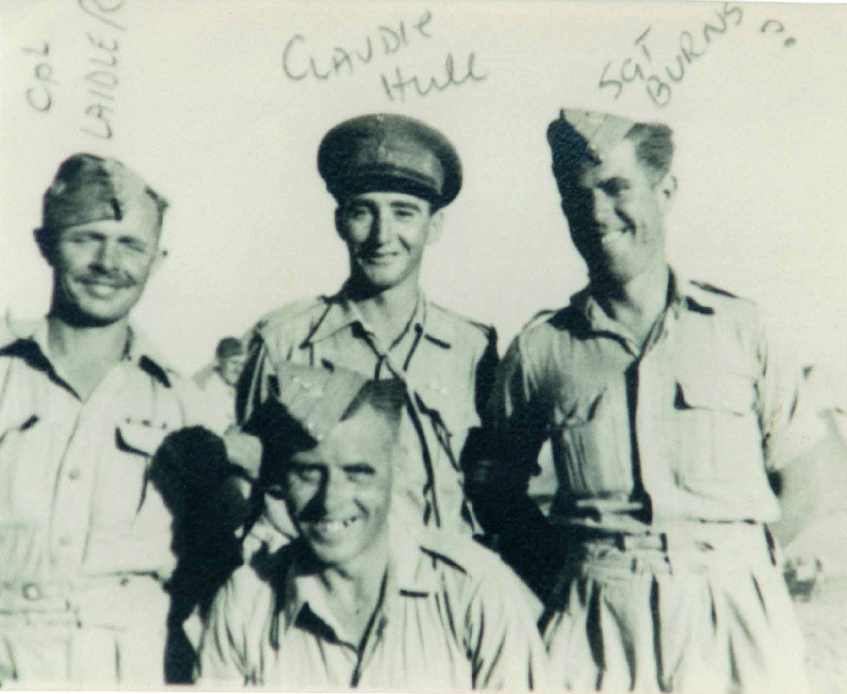 Claude Macdonald Hull with Sgt Burns and Cpl Laidler WW2 diary war story book