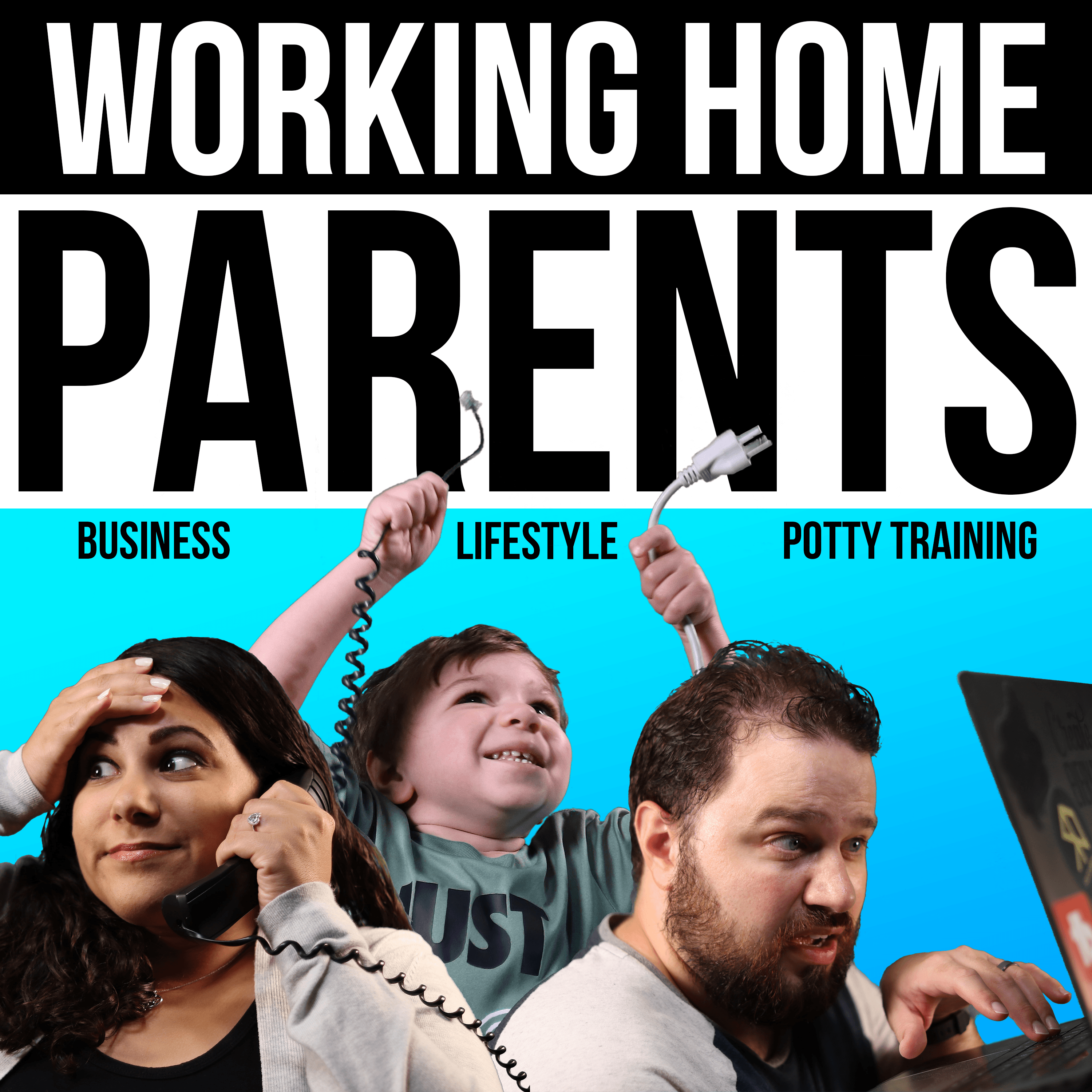 Working Home Parents Podcast Art