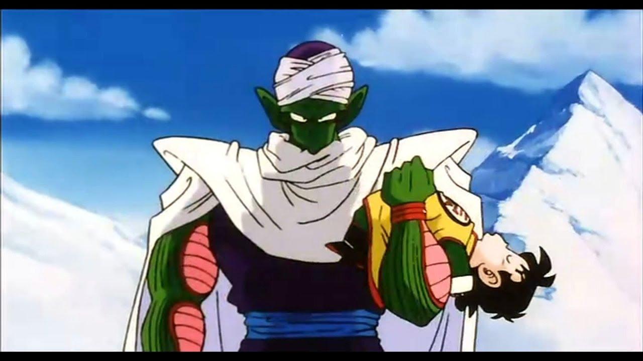 Piccolo holding Gohan