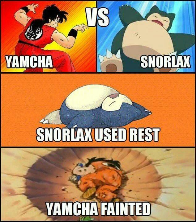Yamacha Vs Snorlax and snorlax using rest