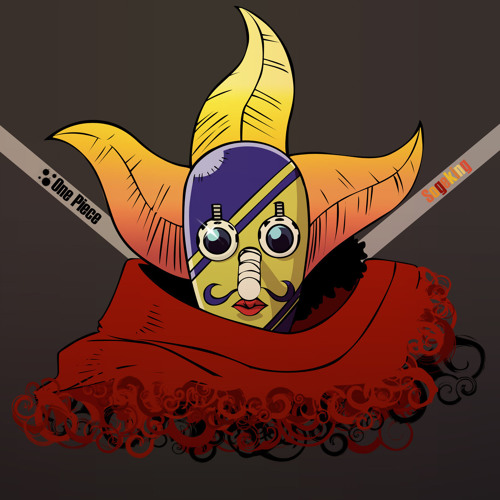 Usopp from One Piece anime posing as Sogeking  wearing a mask