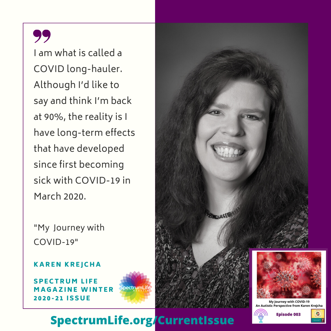 Long-hauler quote from Karen Krejcha about COVID-19