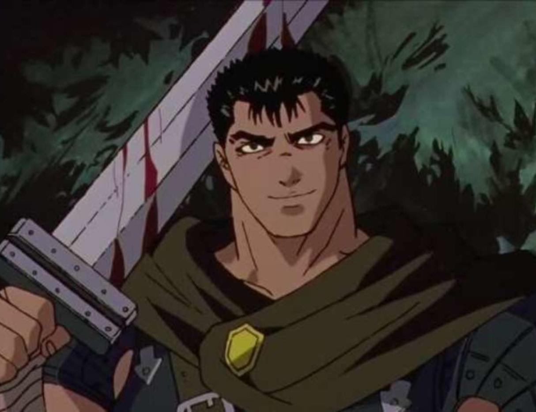 Guts holding his sword Dragon Slayer