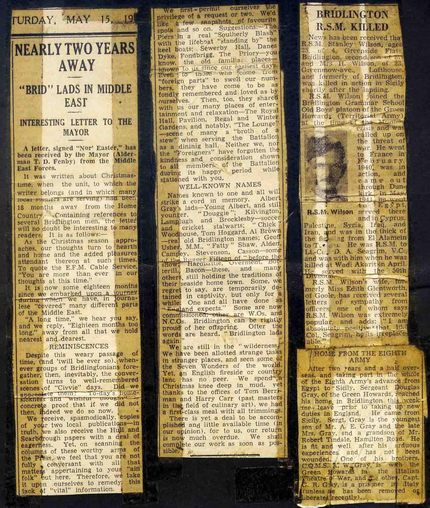 Bridlington free press cuttings -