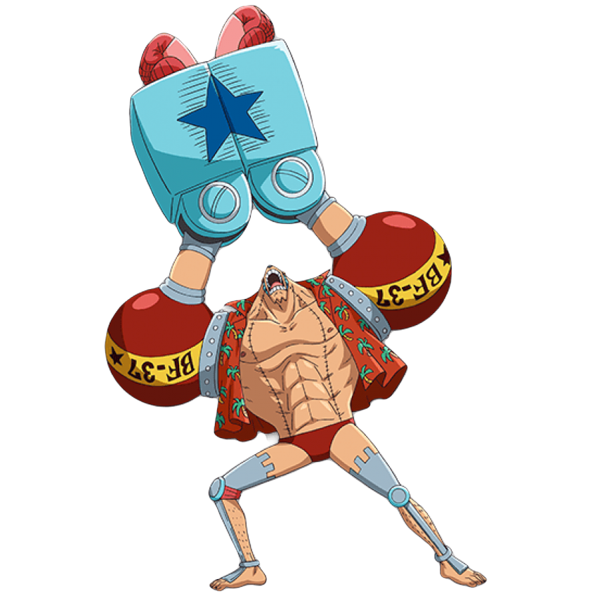 Franky from One Piece doing the Suuuper pose