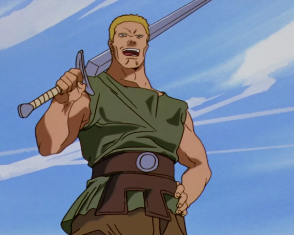 Gambino from Beserk holding a sword
