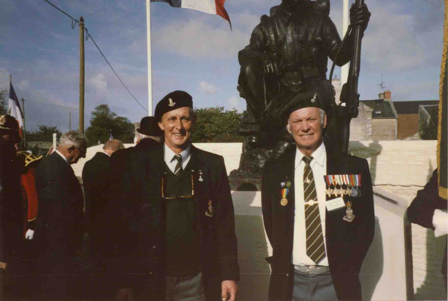 At the inauguration of the Crepon Memorial ww2