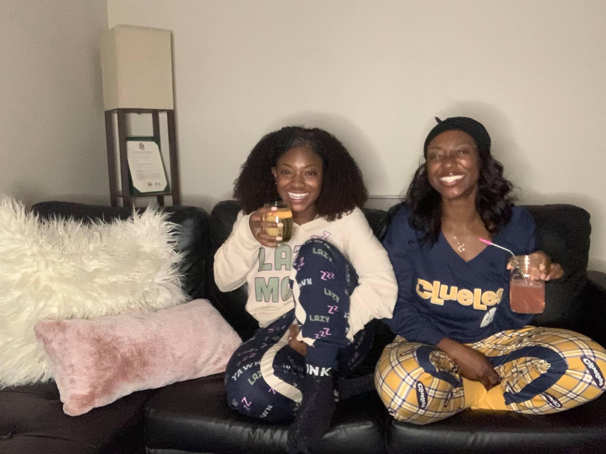 single-black-female-sisters-night