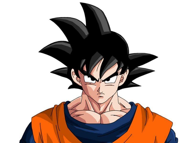 Goku standing in his training gear