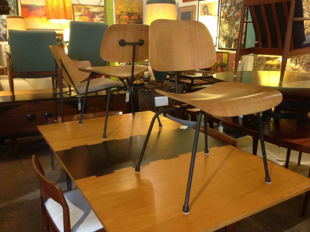 Eames Dcm Pair Reeves Antiques Mid Century Modern Furniture