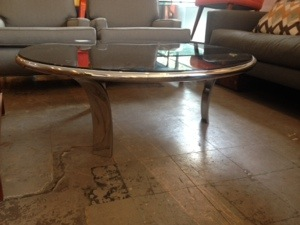 Gardner Leaver Chrome/Glass Coffee Table