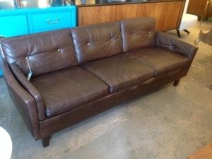 Danish Leather 1960s Sofa