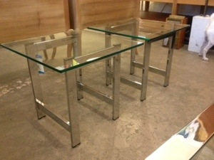 Chrome Base and Glass EndTables