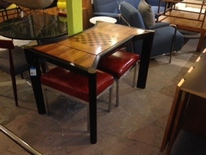 Italian Rosewood Game Table 1970s