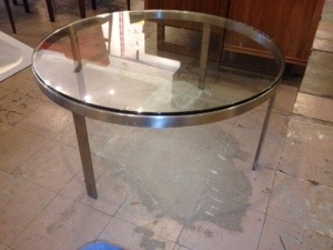 Stainless and Glass Coffee Table