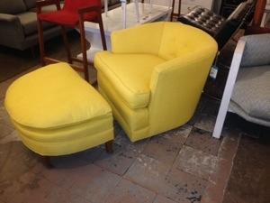 Dunbar Chair with Ottoman