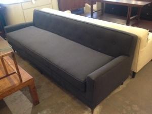 Modern Gray Upholstered Sofa
