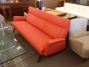 Orange Sofa Restored