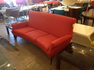 Italian Sofa Red
